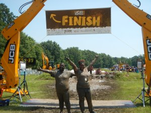 Mom and I at the finish line